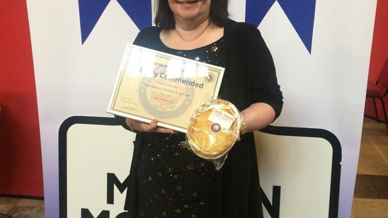 Linda at the 2018 Pie Awards